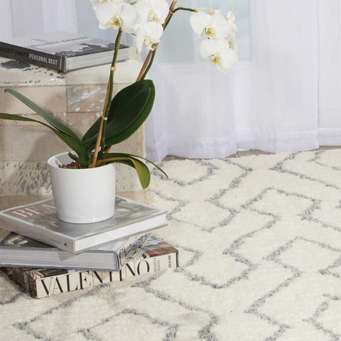 Galway Rug in Ivory White and Blue