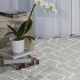 Galway Rug in Slate Grey and Ivory White