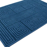 Storm | Hand Tufted Wool Rug | Cobalt Blue