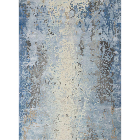 Foreshore | Hand Tufted Rug | Denim and sand