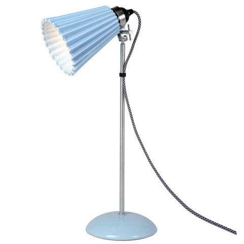 Hector Blue Pleat Bone China Table Lamp by Original BTC