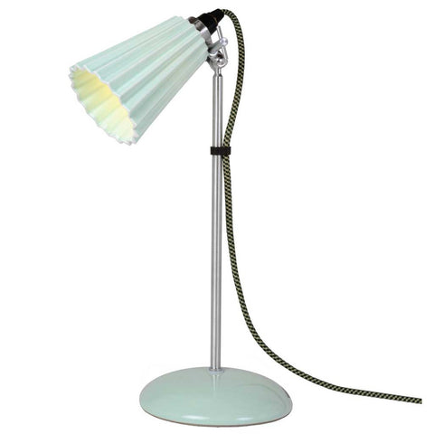 Hector Green Pleat Bone China Table Lamp by Original BTC