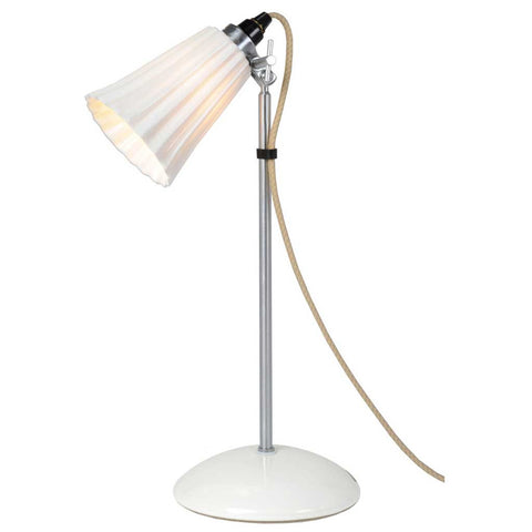 Hector Natural Pleat Bone China Table Lamp by Original BTC