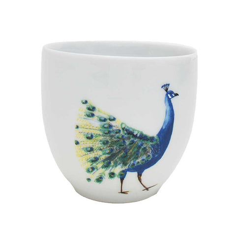 Anastasia | Tropical | Porcelain Peacock Cups | Set of 4 or 6