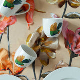 Holly | Tropical | Porcelain Lovebird Coffee Cups | Set of 4 or 6