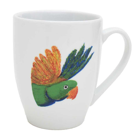 Holly | Tropical | Porcelain Lovebird Mugs | Set of 4 or 6
