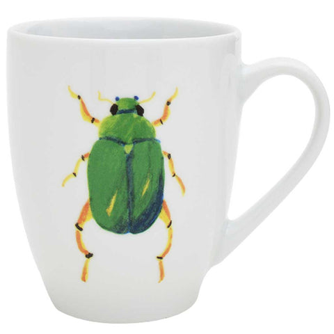 Marco | Tropical | Porcelain Beetle Mugs | Set of 6