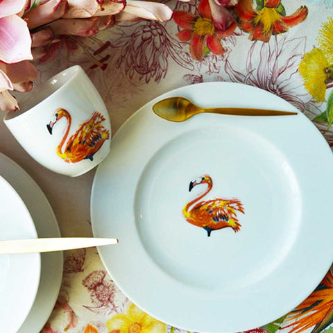 Miranda | Tropical | Flamingo Side Plates | Set of 4 or 6