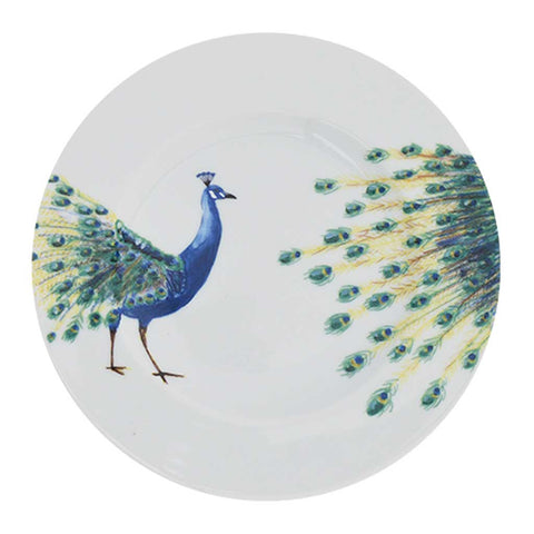 Anastasia | Tropical | Porcelain Peacock Side Plates | Set of 4 or 6