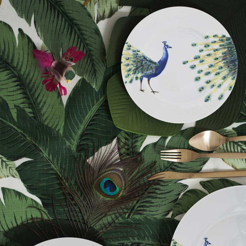 Set of 4 or 6 Porcelain Peacock Side Plates