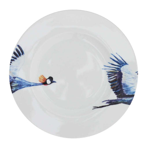 Set of 4 or 6 Crane Porcelain Side Plates