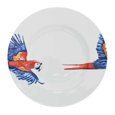 Polly | Tropical | Porcelain Parrot Side Plates | Set of 4 or 6