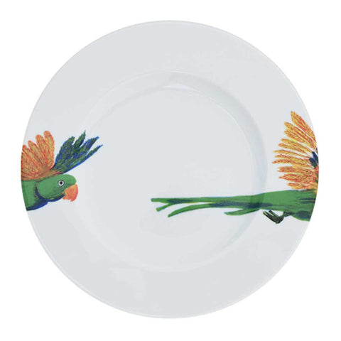 Holly | Tropical | Porcelain Lovebird Side Plates | Set of 4 or 6