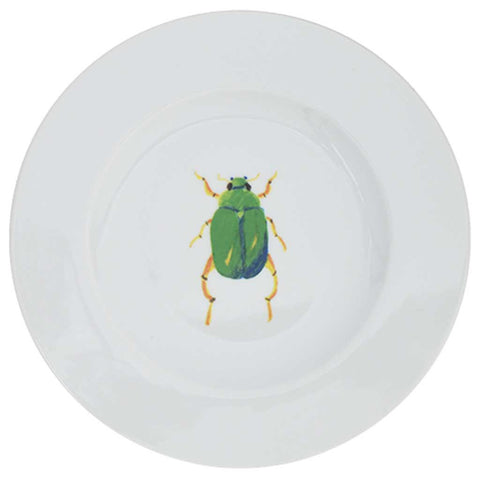 Set of 4 or 6 Porcelain Beetle Side Plates