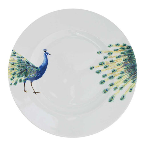 Anastasia | Tropical | Porcelain Peacock Dinner Plates | Set of 4 or 6
