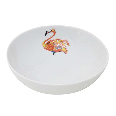 Set of 4 or 6 Flamingo Porcelain Bowls