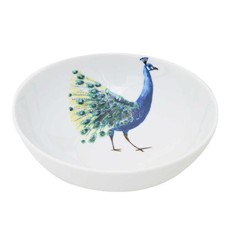 Anastasia | Tropical | Porcelain Peacock Bowls | Set of 4 or 6