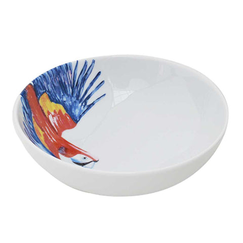 Polly | Tropical | Porcelain Parrot Bowls | Set of 4 or 6