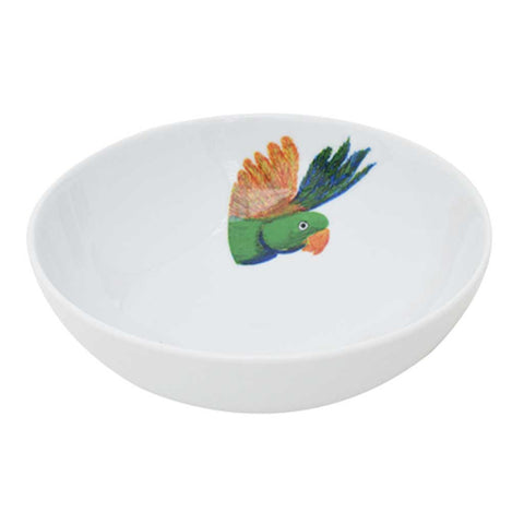 Set of 4 or 6 Porcelain Lovebird Bowls