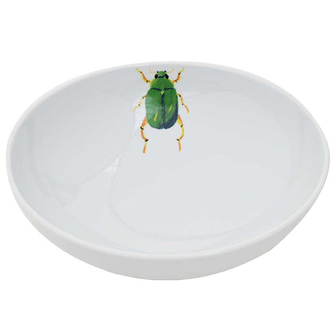 Set of 4 Porcelain Beetle Deep Plates