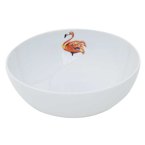 Miranda | Tropical | Flamingo Porcelain Salad Bowl | Summer