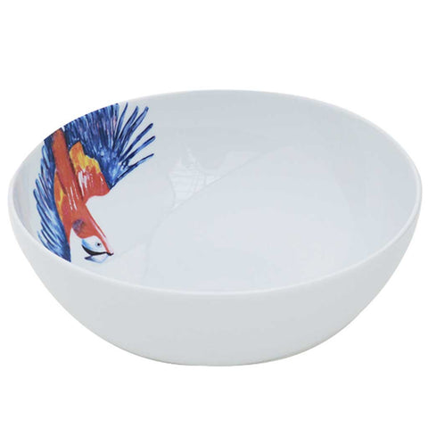 Polly | Tropical | Porcelain Parrot Salad Bowl | Summer