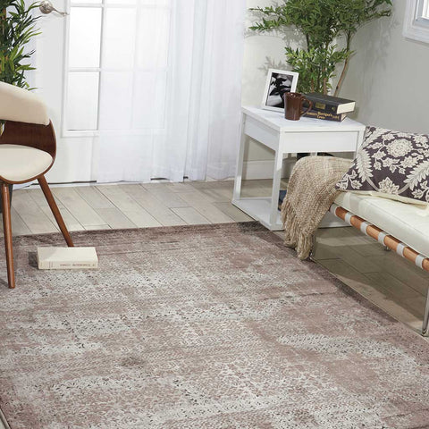 Karma Abstract Rug in Ash Grey