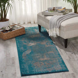 Karma Abstract Rug in Blue