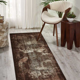 Karma Abstract Rug in Latte Brown