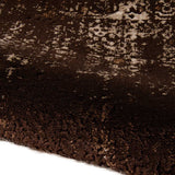 Arabesque Abstract Rug | Dark Chocolate