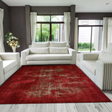 Arabesque Abstract Rug | Crimson Red