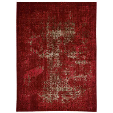 Karma Abstract Rug in Red