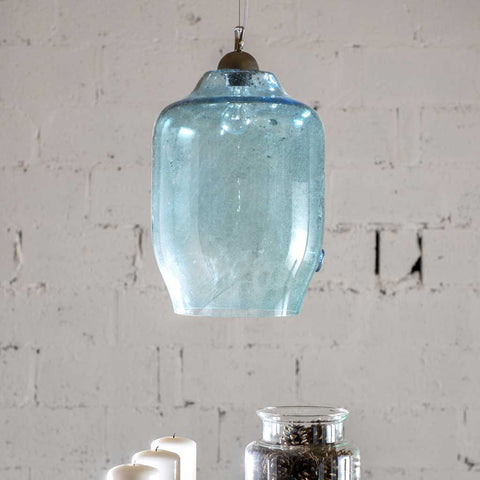 Tara Turquoise Glass Pendant Light