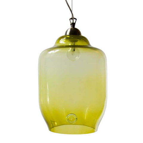 Jasmine | Bohemian handmade | Glass Pendant Light | Olive Green