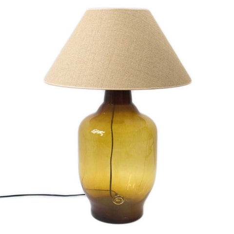 Large Tara Honey Glass Table Lamp