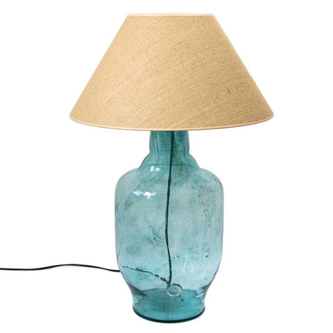 Large Tara Turquoise Glass Table Lamp
