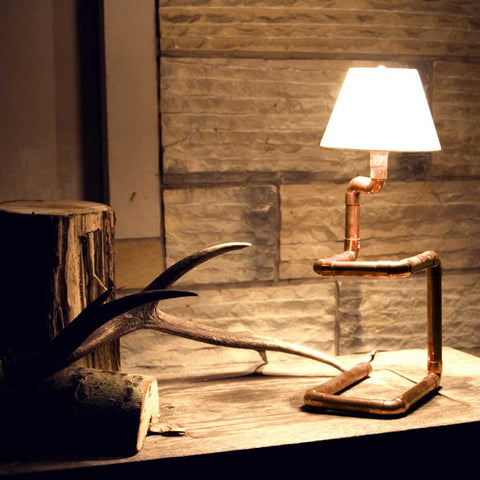 Julia Lamp |  Table Lamp | Copper Pipe