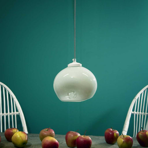 Luna | Bohemian handmade | Glass Pendant Light | White