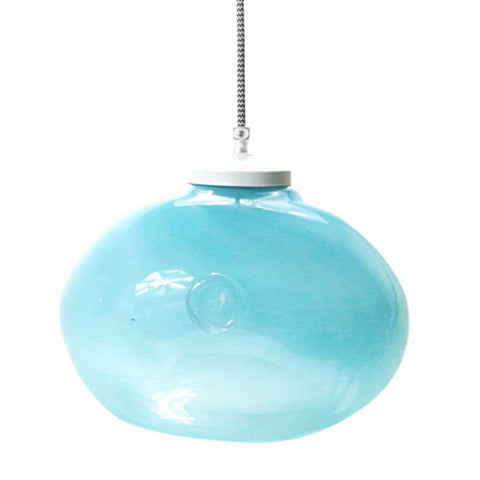 Luna | Bohemian handmade | Glass Pendant Light | Pastel Blue