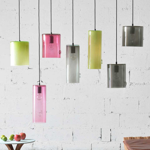 June-l | Bohemian handmade | Glass Pendant Light | Grey