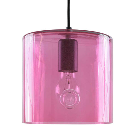 June | Bohemian handmade | Glass Pendant Light | Pink