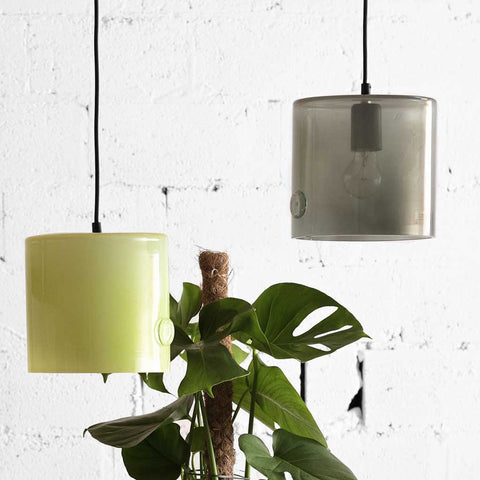 June | Bohemian handmade | Glass Pendant Light | Grey