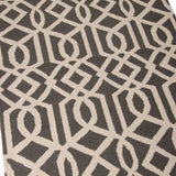 Totem | Geometric Wool Rug | Grey and Ivory White