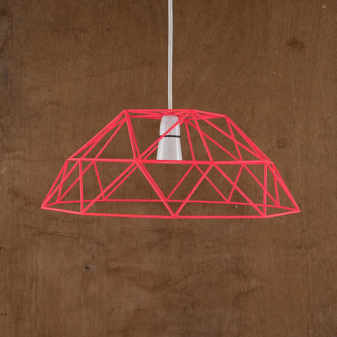 Fluorescent Pink Wire Lampshade