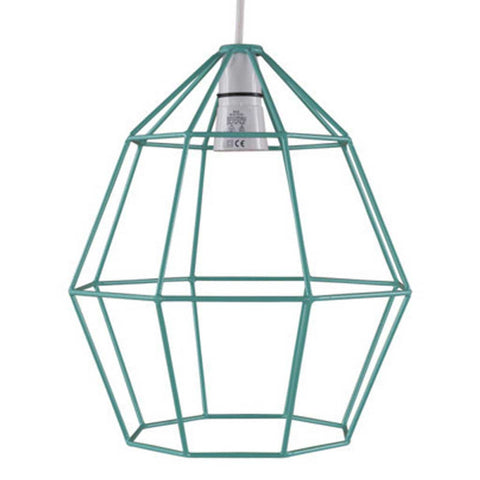 Jade Green Wire Lampshade
