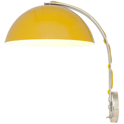 London Yellow and Chrome Wall Light by Original BTC