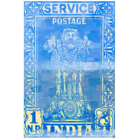 India Postage Canvas