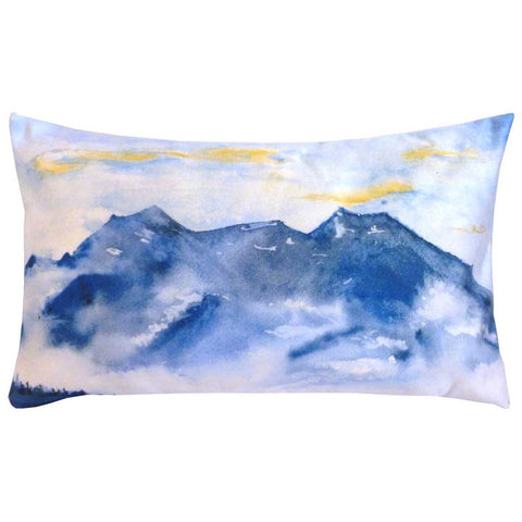 Rectangular Brume Mountains Cushion