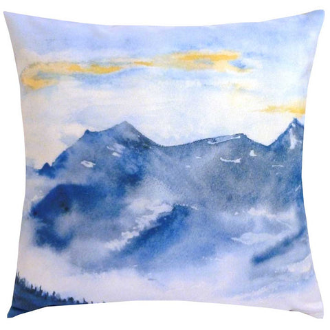 Square Brume Mountains Cushion