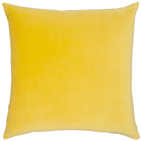 Chartreuse Cotton Velvet and Linen Cushion - Feather Pad